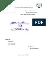 Rapport Innovation Et Créativité