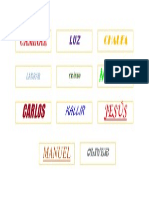 Letras de diferentes fuentes