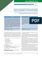 Importancia de Comunicación Efectiva Como Factor de Calidad y Seguridad en La Atención Medica