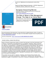 Giovannoni Et Al - The Role of Roles in Risk Management Change - The Case of an Italian Bank