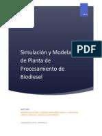 Simulación y Modelado de Planta de Procesamiento de Biodiesel