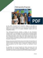 4. German Mother Tongue Programme