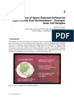 Degradation of space exposed surface