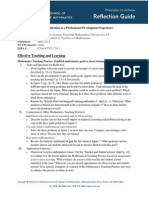 PtA Reflection Guide