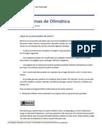 Programas de Ofimática - Procesador de Texto