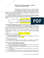 Chapitre 3 THERMOCHIMIE