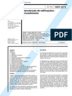 NBR 5674 - Manutenção de Edificações - Procedimento