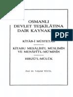 Osmanlı Devlet Teşkilatına Dair Kaynaklar - Prof. Dr. Yaşar YÜCEL