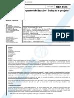NBR 9575 - 2003 - Projeto de Impermeabilização