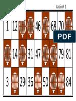 Cartones de Bingo Originales
