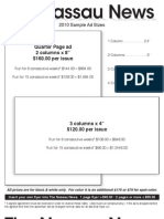 Rate sheet & ad sizes