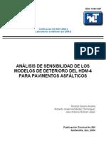 Analisis de Sensibilidad Del HDM