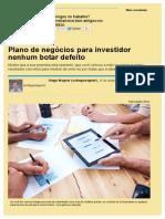 Plano de Negócios Para Investidor Nenhum Botar Defeito - Artigos - Empreendedorismo - Administradores