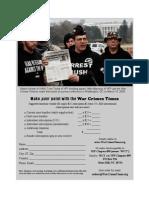 WAR CRIMES TIMES Subscription Order Form