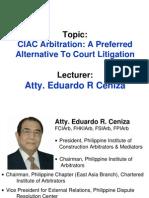 (CIAC Arbitration.ppt; A Preferred Alternative to Court Litigation).ppt