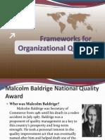 Frameworks for Organizational Quality