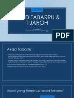 Fiqh Muamalah - Akad Tabarru & Tijaroh