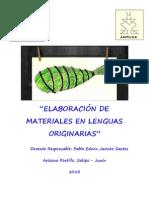 Curso Elaboración de Materiales en Lenguas Originarias 2013
