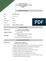 SampleResume HR(English)