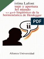 Cristina Lafont Lenguaje y Apertura Del Mundo E Bookos Org
