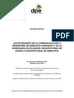 Los Escenarios de la Criminalización a Defensores de Derechos Humanos y de la Naturaleza en Ecuador