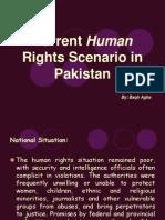 Current Human Rights Scenario in Pakistan