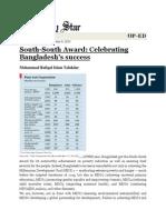 South South Award - Celebrating Bangladesh's Success