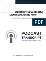 6 Critical Components to a Successful Distressed Assets Fund