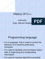 History of C++ Programming Language