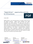 """""""Digital Britain"""" – opportunities and risks for UK businesses"""