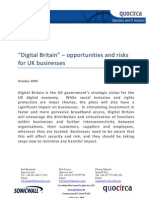 """Digital Britain"" – opportunities and risks for UK businesses"