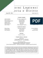 Editoriale Quaderni Lupiensi