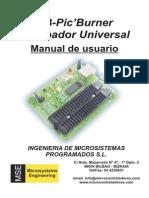 USB-PIC'Burner Manual de Usuario