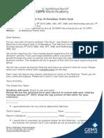 field trip letter to parents -jan 2015