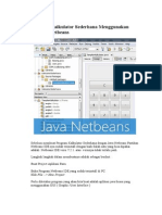 Program Kalkulator Sederhana Menggunakan Java Netbeans