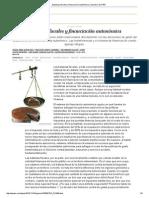 Balanzas Fiscales y Financiación Autonómica