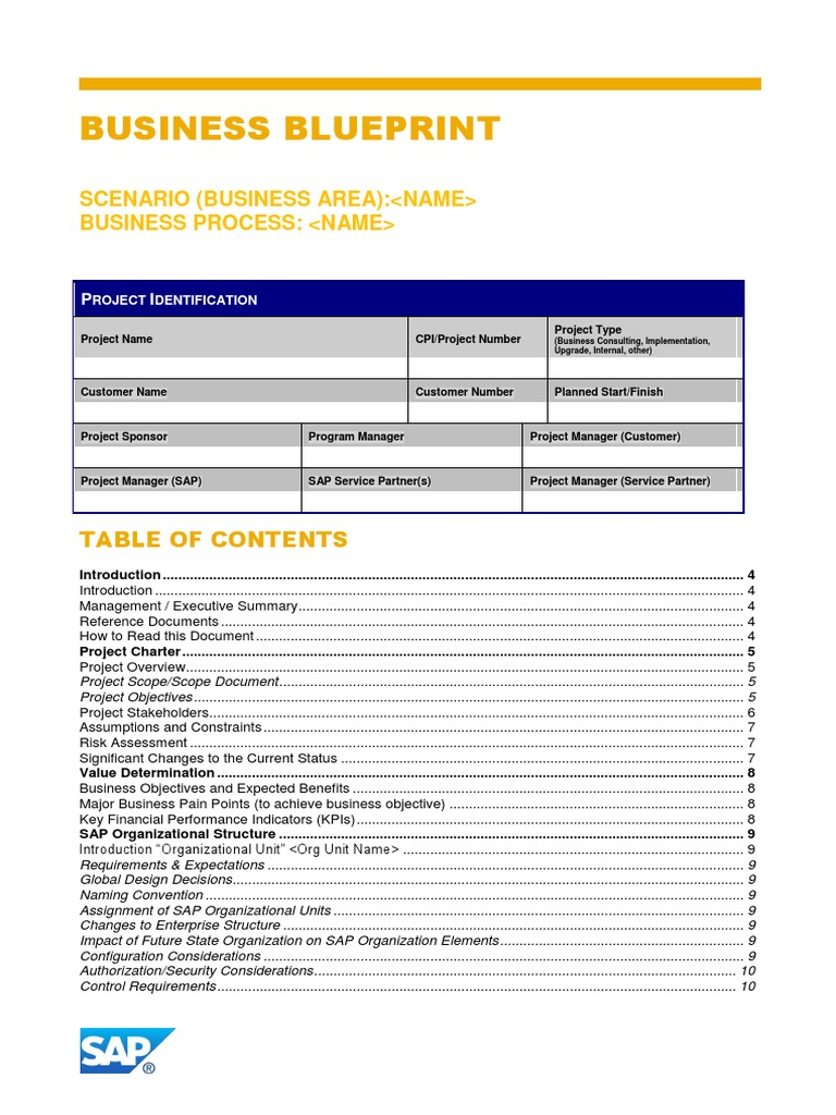 Business blueprint template business process file format malvernweather Images