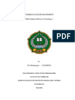 Curriculum Development Final