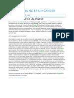 la leucemia no es un cancer