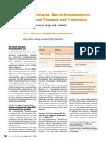 Systematische Übersichtsarbeiten zu Fragen der Therapie und Prävention - Was macht eine gute Übersichtsarbeit aus?