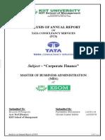 Ratio Analysis of TCS (KIIT School of Management)
