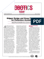 Gripper Design and Grasp Planning