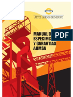 Manual de Especificaciones y Garantias Ahmsa