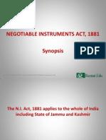 # N.I. Act Sysnopsis - 1