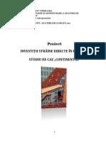 PROIECT Investitii straine directe in Romania Studiu de caz Continental Automotive