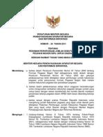 03 PerMen PAN & RB No. 26 Tahun 2011 Tentang Pedoman Perhitungan Jumlah Kebutuhan PNS Untuk Daerah