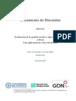 Evaluación de La Gestion Escolar y Tipo de Escuela en El Perú Una Aplicaciónn de Costo Efectividad