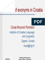 Croatia Exonyms