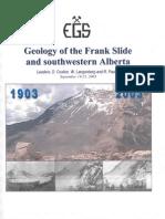 44- SW Alberta_ Geology of the Frank Slide_2003_EGS
