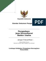 Sdp Jasa Konsultansi Badan Usaha - Prakualifikasi - Seleksi Umum - Metode Evaluasi Pagu Anggaran - 2 Sampul